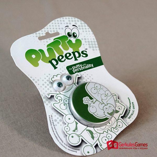 Волшебный пластилин Putty Peeps металлик зеленый 1, 2 000 тг.